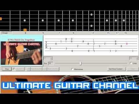 [Guitar Solo Tab] If We Hold On Together (Diana Ross)