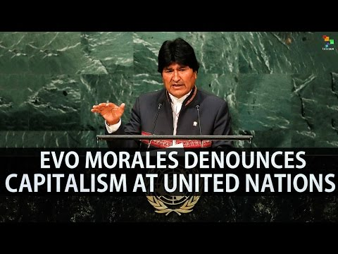 Evo Morales Denounces Israel, US, and Capitalism at UN