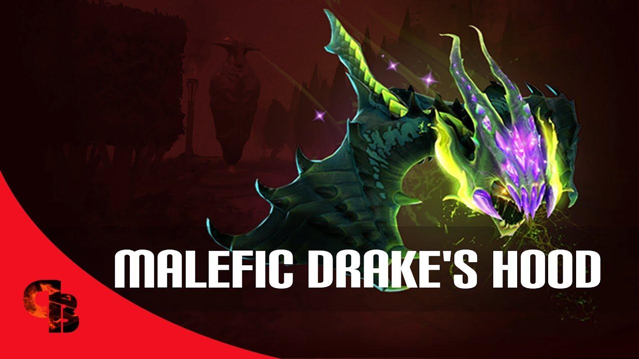 dota 2 store viper malefic drake s hood immortal youtube