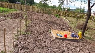 как разработать заросший участок под огород греет печка