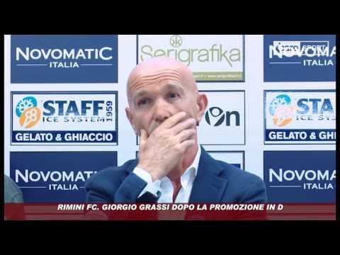Icaro Sport. Rimini FC, Giorgio Grassi dopo la promozione in D