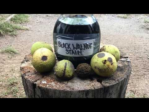 DIY Walnut Stain & Metal Blackener