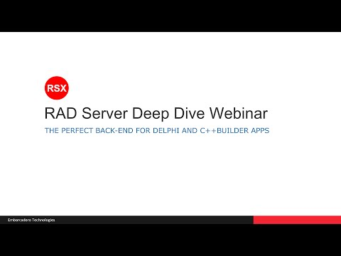 RAD Server Application Deep Dive - Creating a Department Store Retail Solution
