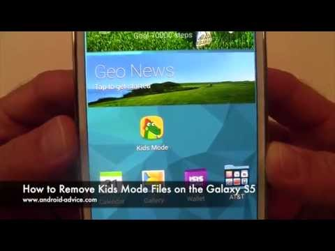 How To Remove Kids Mode Files On The Galaxy S5