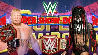 WWE Brock Lesnar vs demon Finn balor || super showdown match || WWE entertainment WhatsApp status