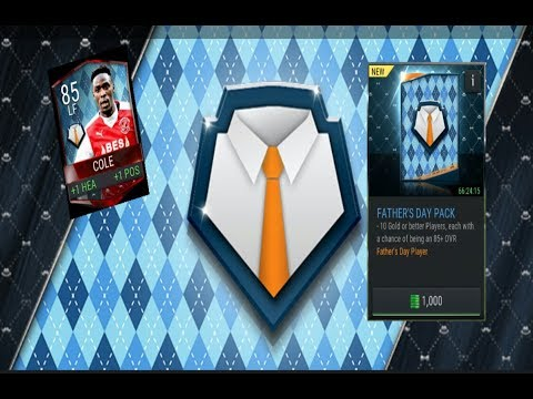 FIFA MOBILE Father's Day Pack and Father's Day Bundle open