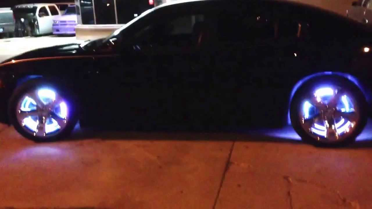 Custom rgb led wheel light kit and led lighting in the grille dodge Charger. - YouTube : wheel lighting - azcodes.com