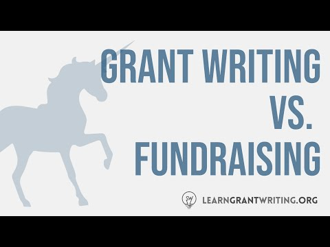 The Differences Between Grant Writing and Fundraising