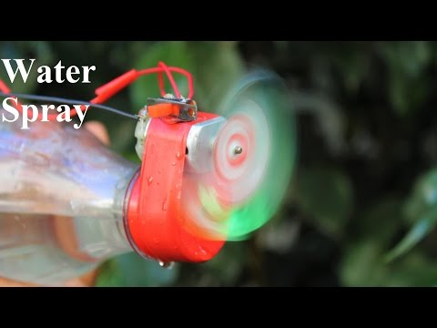 How To Make a water spray - Bottle water spray