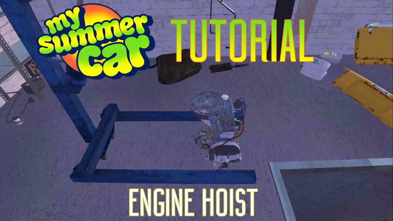 My Summer Car Tutorial Engine Hoist