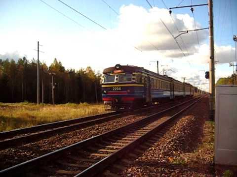 Ekektriraudtee (Electric railway) ER2 EMU from Tallinn Balti jaam to Aegviidu...