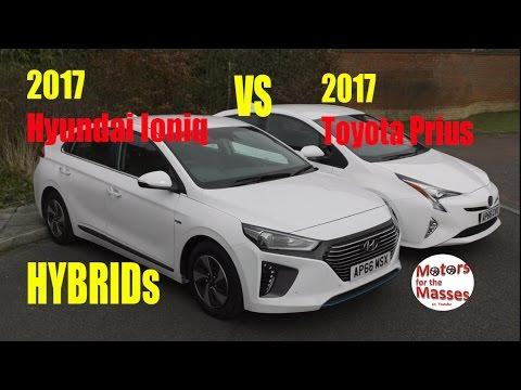 2017 Hyundai Ioniq Hybrid Vs Toyota Prius