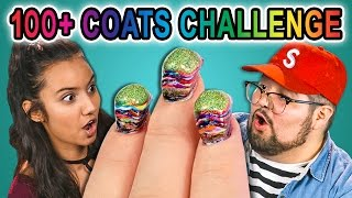 College Kids React to 100+ Coats Challenge (#POLISHMOUNTAIN)