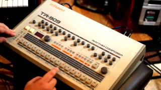 Building Techno and House rhythms on the Roland TR-909