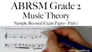 ABRSM Music Theory Grade 2 Sample Revised Exam Paper Part 1 with Sharon Bill