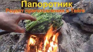 Папоротник рецепт в тайге как приготовить  Папоротник страусник папоротник орляк вкусный