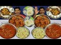 YUMMY EATING | EGG FRIED RICE  | PRAWNS FRY | CHICKEN | ROTI | MUTTON CURRY |  THUMS UP |  CHALLENGE