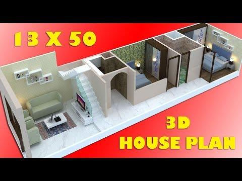 13X50, 15X50 3D HOUSE PLAN वास्तु के अनुसार