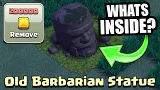 WHAT HAPPENS IF YOU REMOVE THE BARBARIAN STATUE IN CLASH OF CLANS BUILDERS VILLAGE!?