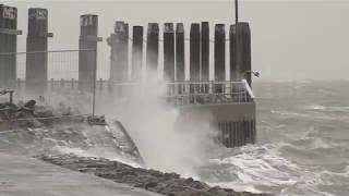 Norderney - Orkan Burglind trifft auf Ostfriesische Inseln