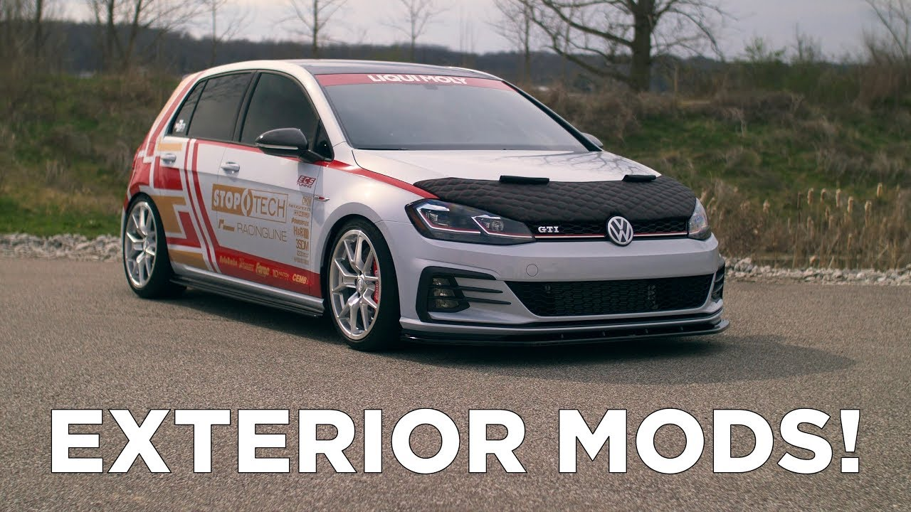 2018 Vw Gti Mk7 5 Installing Exterior Mods Youtube