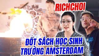 Drama Rapper Việt đốt sách vở khi quay MV, thách thức hs trường Ams - Hít Hà Drama