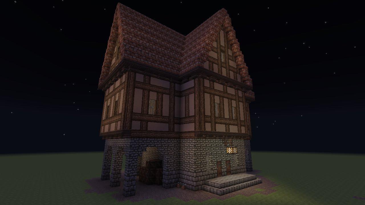 Minecraft Fachwerkhaus 5 Wirtshaus Half Timbered