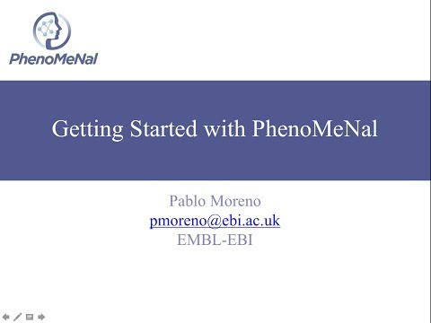 Getting started with PhenoMeNal