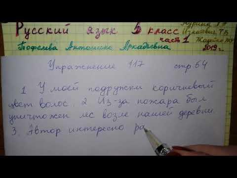 Упр 117 стр 64 Русский язык 5 класс 1 часть Мурина 2019 гдз речевые ошибки
