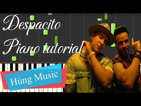 Despacito Piano tutorial + Sheet piano - Luis Fonsi - Despacito ft. Daddy Yankee