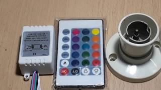 Remote control fan and light project