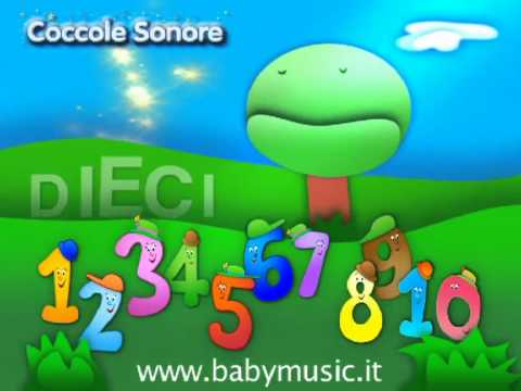 La Canzone dei Numeri 1 2 3 - Italian Songs for children by Coccole Sonore
