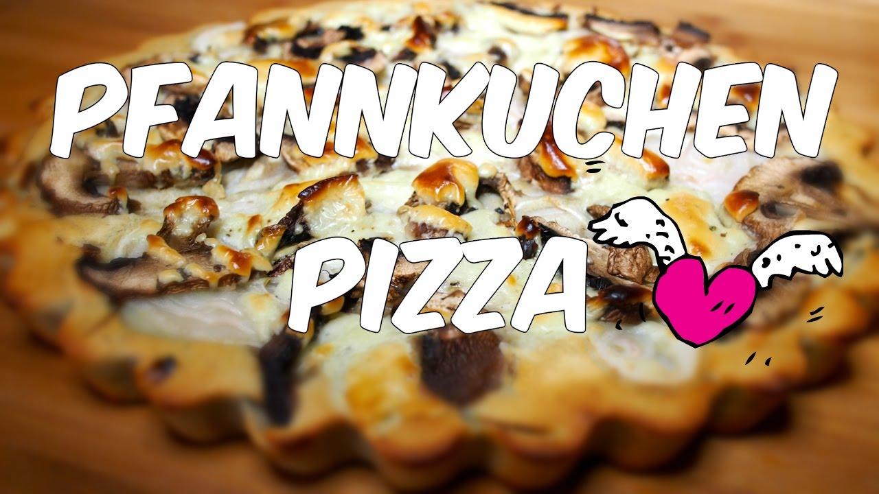 Glutenfreie Pfannkuchen-Pizza für Faule (Vegan & Einfach) [VEGAN]