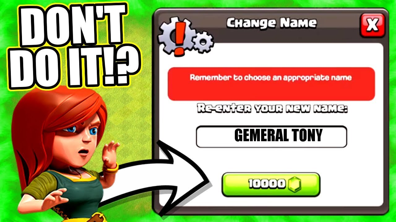 TIME TO CHANGE MY NAME IN CLASH OF CLANS!? - JUNE 2018 UPDATE!