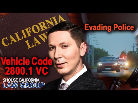 Evading a Peace or Police Officer - California Law