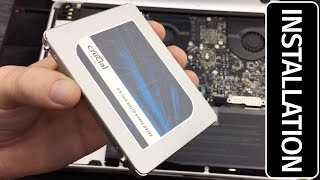 """Crucial MX500 1TB SATA 2.5"""" 7mm (with 9.5mm adapter) Internal SSD Installation"""