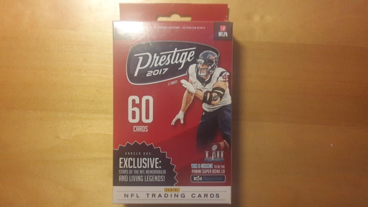 2017 Panini Prestige Football NFL Retail Hanger Box Break - YouTube 985c24138