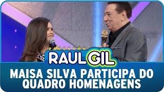Programa Raul Gil (09/05/15) - Maisa Silva participa do quadro homenagens