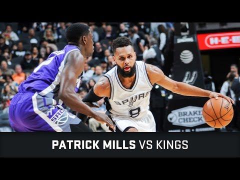 Patrick Mills Highlights: 17 PTS, 10 AST, 1 STL vs Kings (08.03.2017)