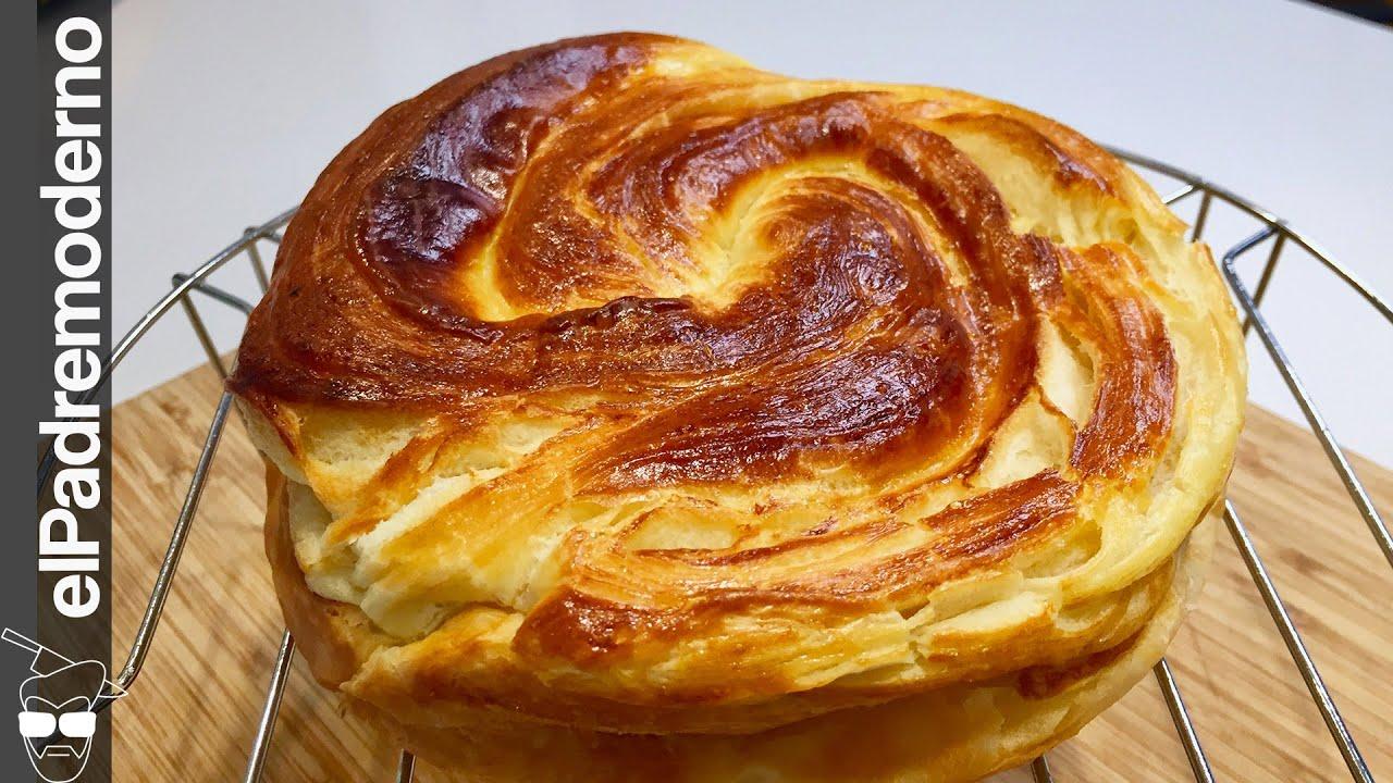 El PAN de LECHE casero hojaldrado tipo croissant ¡Parece una nube!