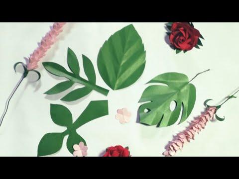 Cara Membuat Daun Paper Flower   Paper Leaves Tutorial Part 1   Ide Kreatif Dekor
