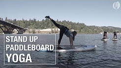 Stand up paddleboard yoga in Portland