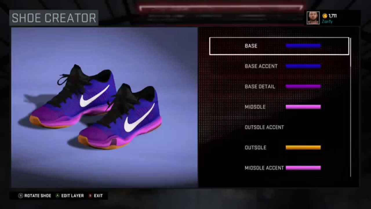 976ba320aa38 NBA 2K16 Shoe Creator - Nike Kobe 10 Elite Low