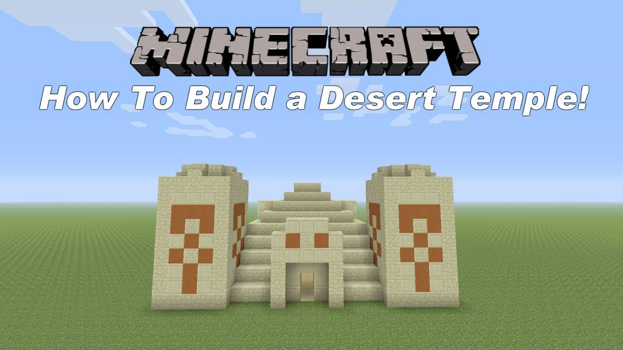 Minecraft Tutorial How To Build A Desert Temple Youtube