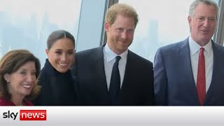 Harry and Meghan visit One World Trade Center in New York