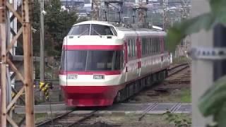 イベント開催日翌日の、長野電鉄須坂駅。(1000系「ゆけむり」転線)