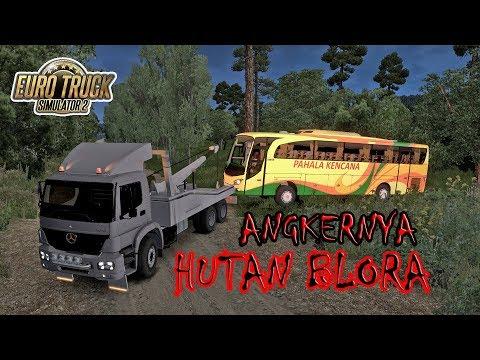 KEJADIAN MISTERIUS !!! Bus PAHALA KENCANA Tiba-Tiba Masuk Ke Dalam Hutan Jati | ETS2 MOD INDONESIA
