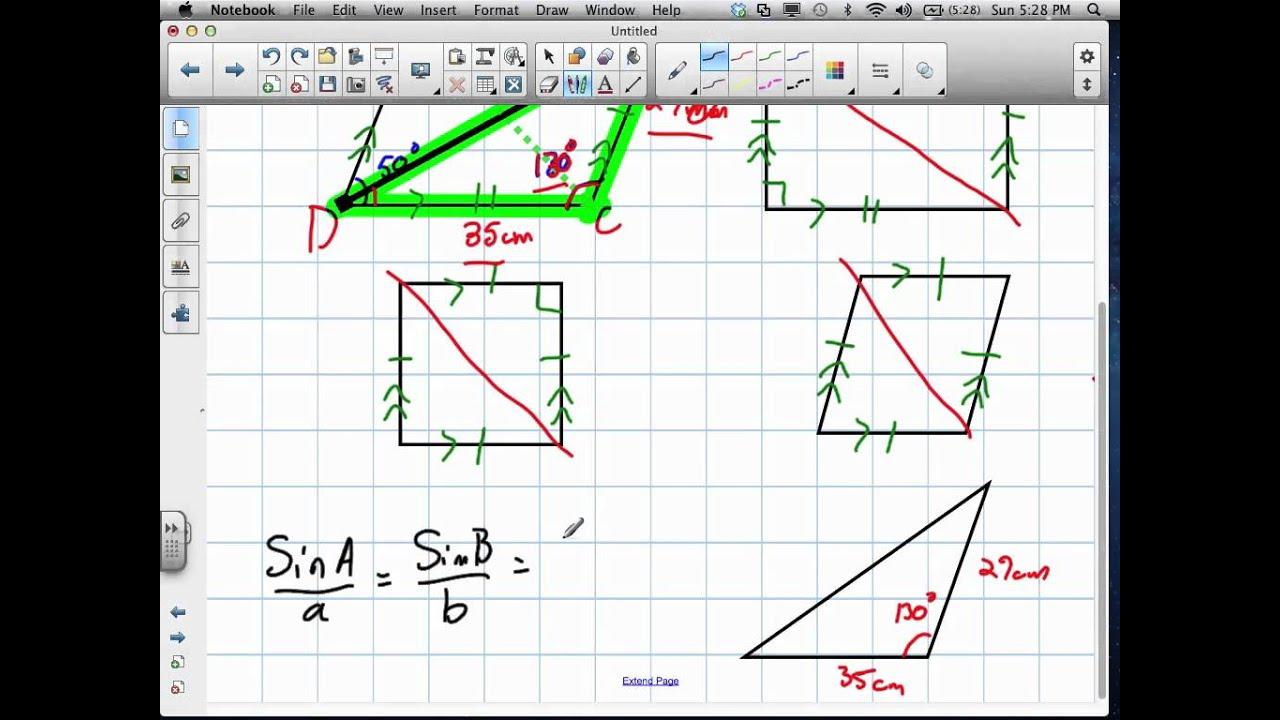 Triangle Trig Problems Grade 11 University Review 61912v