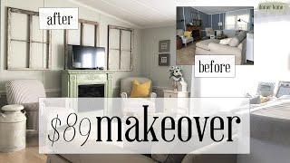 $89 LIVING ROOM MAKEOVER