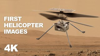 The First Images of Mars Helicopter (Ingenuity) on Mars